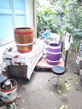 Preparation des barriques